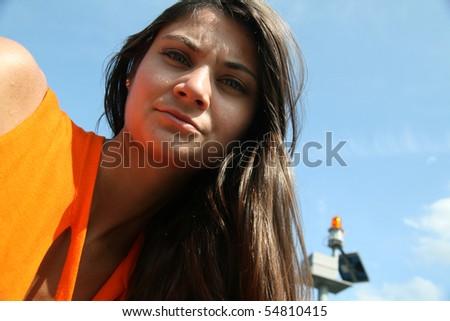 Orange Alarm - stock photo