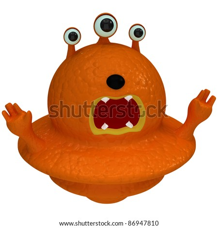 Orange alien - stock photo