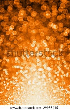Orange and black Halloween or Autumn Fall glitter sparkle background party invitation - stock photo