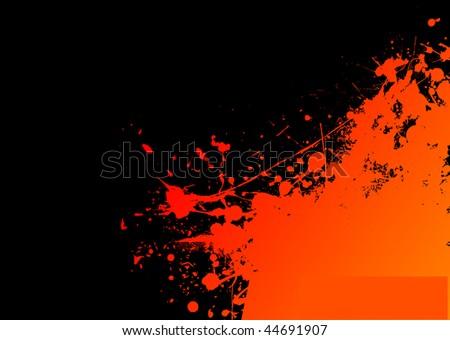Orange Splat Design Orange And Black Ink Splat