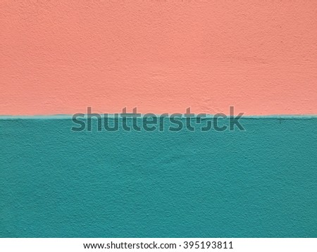 Orange and blue concrete wall texture background