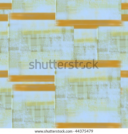 Orange and blue woven cloth texture - stock photo