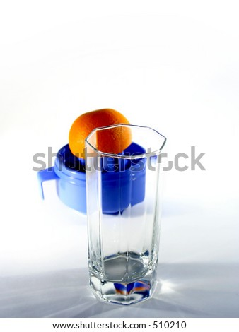 orange and glass - stock photo