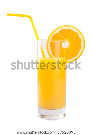 orange and juice - stock photo