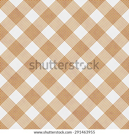 Orange and White Striped Gingham Tile Pattern Repeat Background that is seamless and repeats