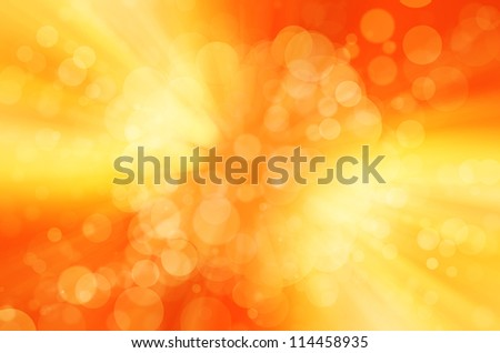 orange and yellow bokeh background - stock photo
