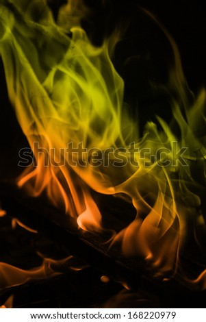 orange and yellow flames