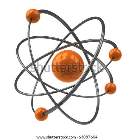 Orange Atom - stock photo
