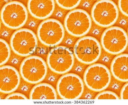 Orange. Background from slices of orange close-up. - stock photo