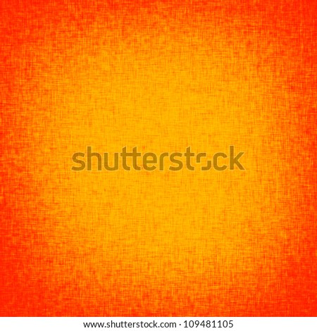 orange background with burlap texture and red vignette - stock photo