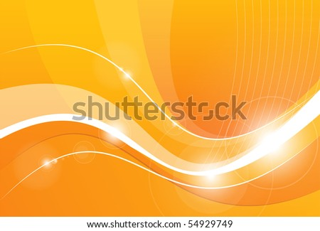 Orange background with lines - stock photo