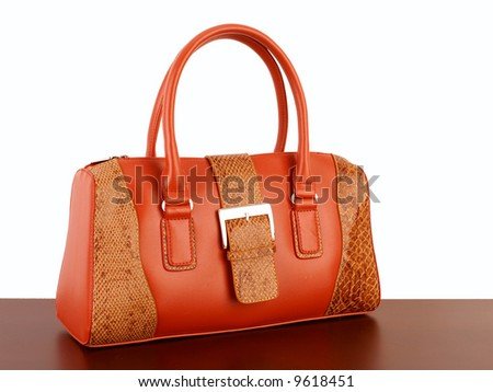 orange bag - stock photo