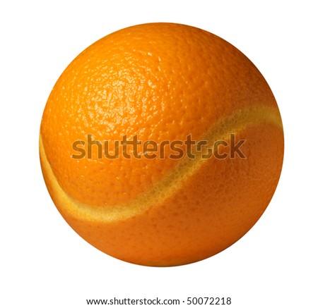 orange ball - stock photo