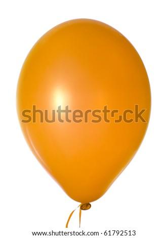 orange balloon isolated on white - stock photo