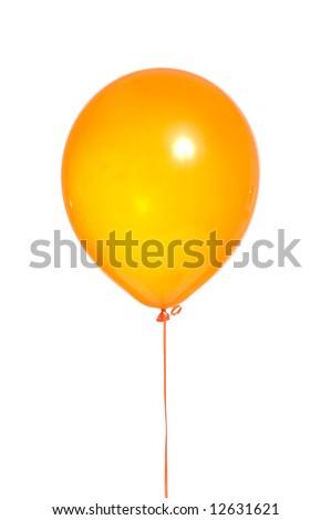 orange balloon on a white background - stock photo