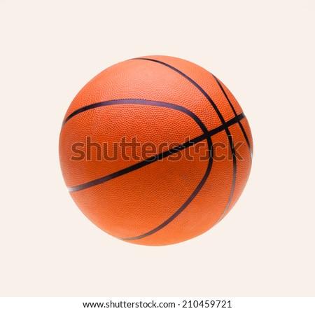 Orange basket ball, isolated in white background  - stock photo