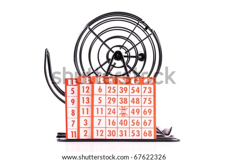 Orange BINGO Cards - stock photo