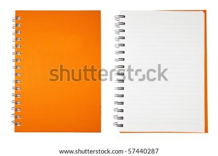 Orange Blank Note Book - stock photo