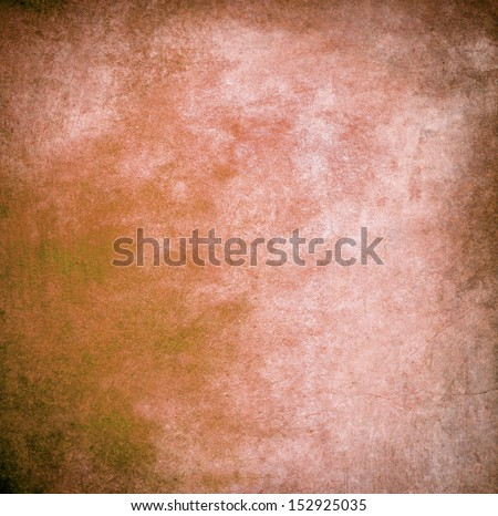Orange blue paint wall background or texture