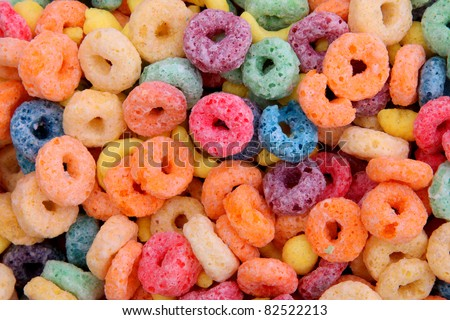 orange,blue,violet, yellow fruit cereal background. photography - stock photo