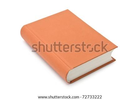 orange book isolated on the white - stock photo