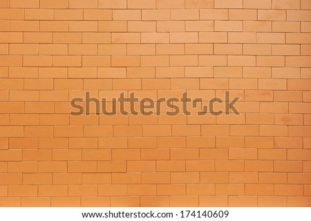 Orange brick texture for wallpaper & background. - stock photo