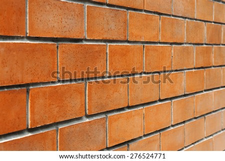 Orange brick wall horizontal