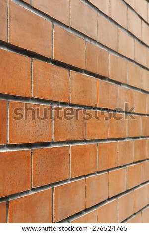 Orange brick wall Vertical