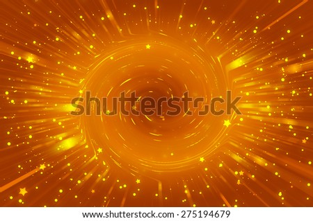Orange bright abstract background with stars