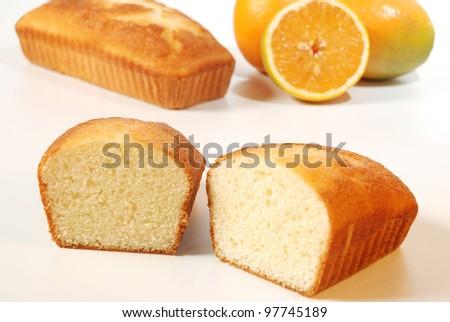 orange cake - stock photo