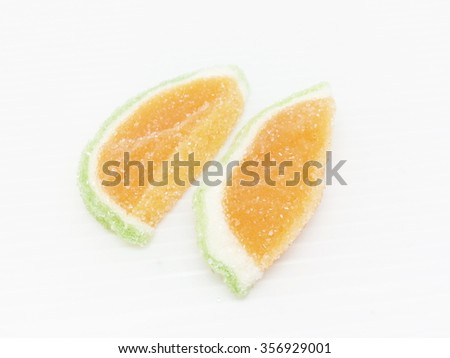 Orange Candies isolated on white background