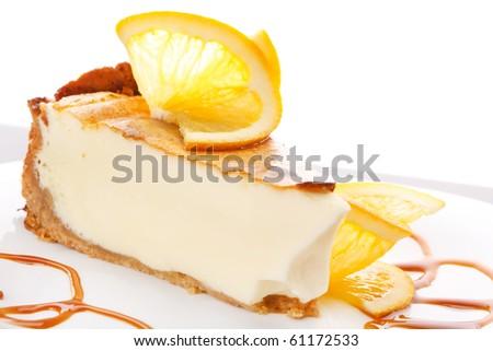 orange cheesecake - stock photo