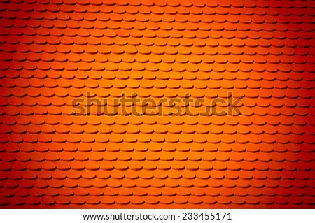 orange clay roof tile background   - stock photo