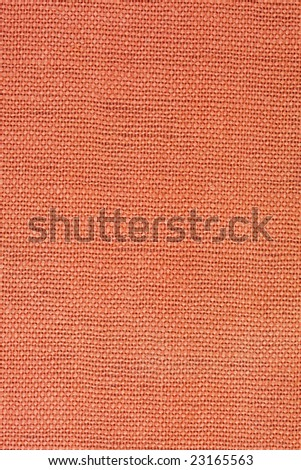 orange, coarse textile background from a vintage 1960s book cover