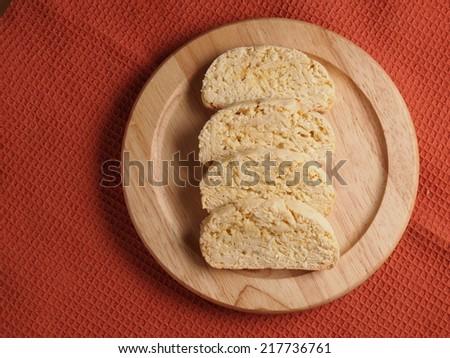Orange Coconut and Almond Biscotti, homemade bakery - stock photo