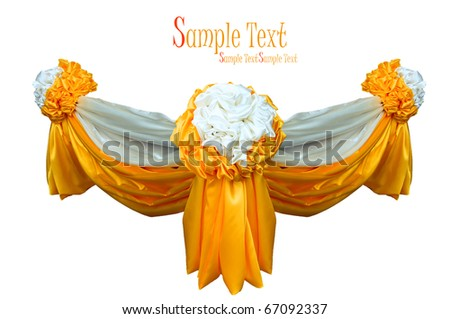 orange color fabric - stock photo