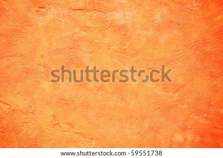 Orange color painting wall - stock photo