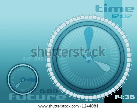 orange color scheme for time future and past layout for internet industry and others and for many different concept - stock photo