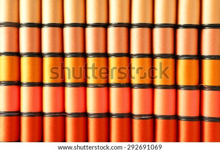 Orange color thread - stock photo