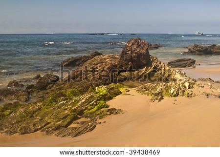 Orange County Coast near Laguna Beach, California - stock photo