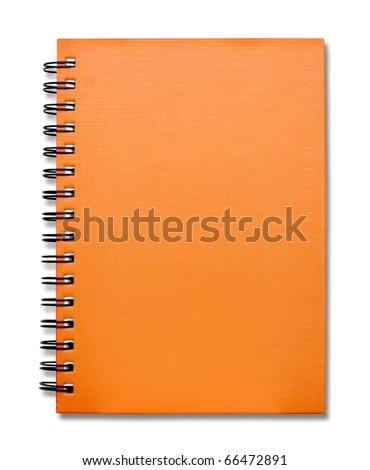 Orange Cover Note Book - stock photo