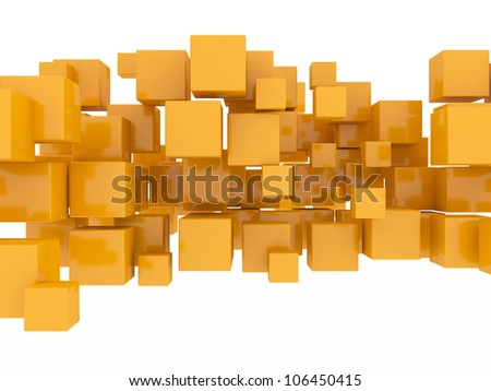 orange cubes - stock photo