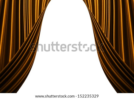 Orange Curtain background.