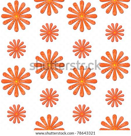 orange daisy seamless background - stock photo