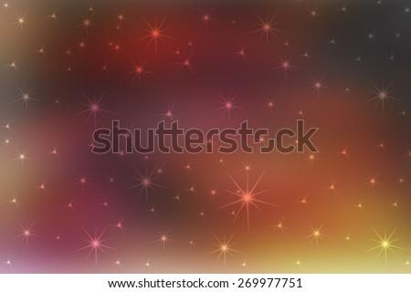orange digitally generated image of colorful black background with beautiful twinkle light - stock photo