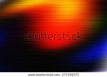 orange digitally generated image of colorful black background with blur horizontal speed motion lines - stock photo