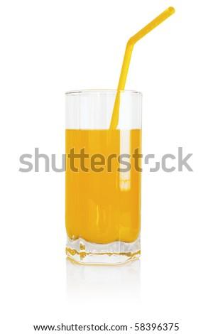 Orange drink - stock photo