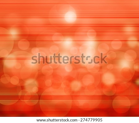 Orange elegant abstract background with bokeh - stock photo