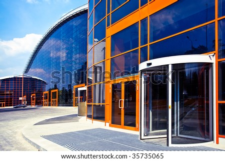 Orange enters to new business center - stock photo
