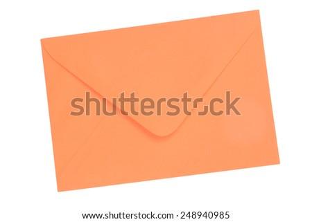 Orange envelope - stock photo
